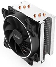 Pccooler GI-X3 CPU Air Cooler Moonlight Series | SilentPro PWM CPU Fan 120mm with Corona LED White Frame | 3 Direct Contact Heat Pipes for Intel Core i7/i5/i3, AMD Series, PC Computer Case