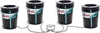 Hydrofarm RS5GAL4SYS Root Spa 4 Bucket System, 5 Gallon, Black