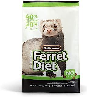 ZuPreem Premium Daily Ferret Diet Food, 4 lb or 8 lb Bag   Nutrient Dense, Real Chicken..