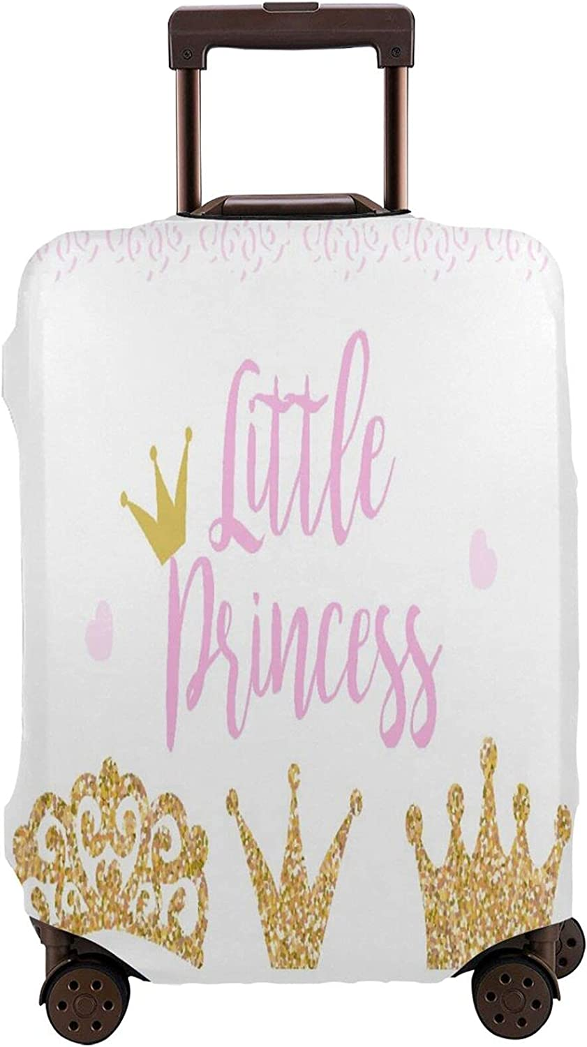 Brand new Year-end gift Travel Luggage Cover,Pink Text Little White On Backgr Princess