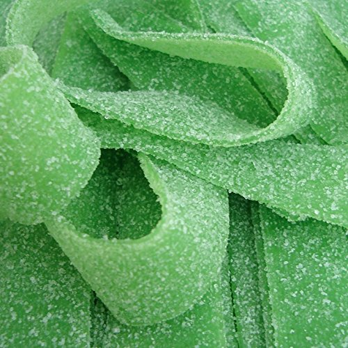 Smarty Stop All Flavor Sour Candy Belts (Green Apple, 1 LB)