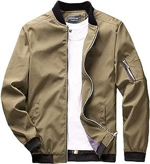 Men's Slim Fit Lightweight Softshell Flight Bomber Jacket Coat