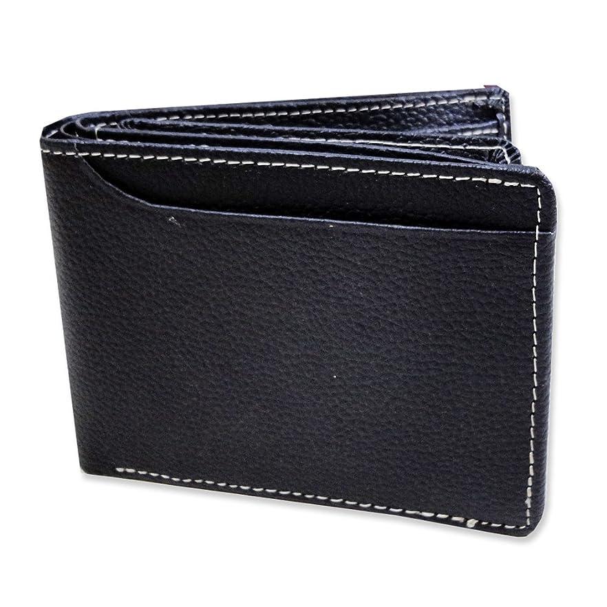 にはまって学校教育津波羊革&牛革 メンズ 二つ折り財布