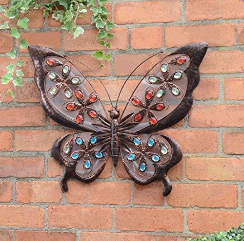 Spot on Dealz - Lámpara de pared con diseño de mariposa, funciona con energía solar