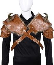 Men Medieval Viking Pauldrons Armor Halloween Cosplay Warriors Leather Shoulder