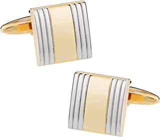 أزرار أكمام ذهبية اللون للجنسين من أدى أنيقة للرجال والنساء مع صندوق عرض