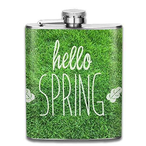 iuitt7rtree Springtime Meadow Portable Stainless Steel Flagon Liquor Flask