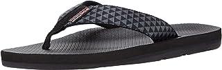 Scott Hawaii Kaikane Sandals for Men, Neoprene Lined Flip Flops, No Slip Sole with Arch (11, Black Kaimana)