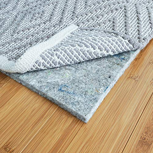 RUGPADUSA - Basics - 8'x10' - 3/8' Thick - 100% Felt - Protective Cushioning Rug Pad - Safe for All Floors and Finishes including Hardwoods