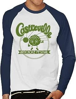 CYDADA Castroville Artichoke Festival Stranger Things Men's Baseball Long Sleeved T-Shirt
