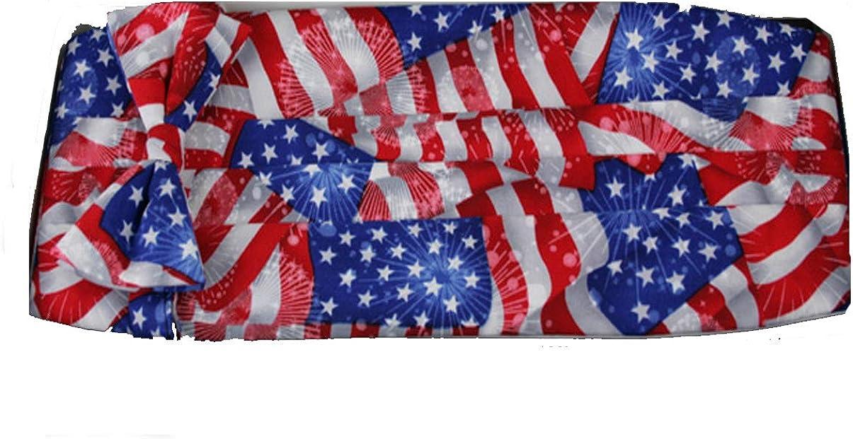 American Flag Bow Tie and Cummerbund Set