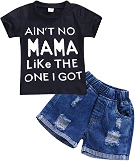 Gnatx Little Boy Clothing Sets Cartoon Pattern Cotton Tee Shirts and Shorts Sets for Baby Boys 1-6 Years