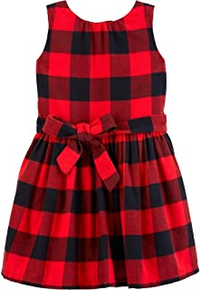 Carter's Toddler Girls Red and Black Buffalo Plaid Flannel Dress