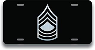 DHDM Army Master Sergeant E8 Vanity License Plate | Etched Aluminum Gift Idea | 6-Inches by 12-Inches | Car Truck RV Trailer Wall Shop Man Cave | VLP911