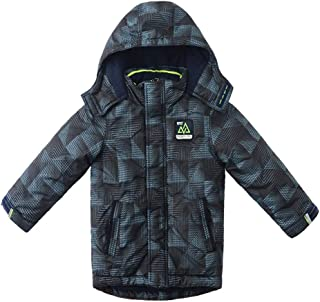 SNOW DREAMS Boys Winter Coat Camo Puffer Active Jacket Quilted Hooded Waterproof Outerwear