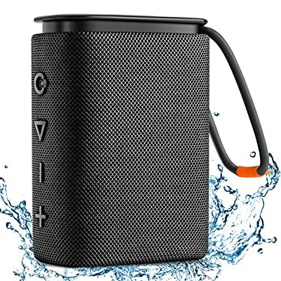 IPX7 Waterproof Bluetooth Speaker, Hadisala H2 Portable Wireless Speaker Bluetooth 5.0 with Rich Bass HD Stereo Sound 15H Playtime USB-C Charge, Shower Speaker TWS Pairing for Home, Outdoors, Travel by Hadisala