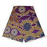 Afrikanischer Stoff, violette Senf-Punkte, Wachstuch –