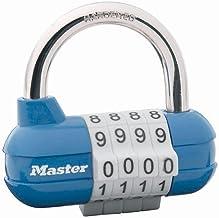 Master Lock 1523EURD cijferslot, willekeurige kleur, 5,9 x 6,4 x 2,6 cm