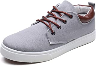 ZUAN Fashion Sneakers for Men Acrobatic Sport Flat Lace up Style Breathable Casual Canvas Shoes Training Operative
