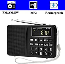 portable am fm radio with earbuds