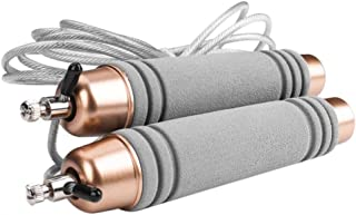 Adjustable Steel Wire Jump Rope with Ball Bearing Foam Handles for Fitness Workouts Kakiyi