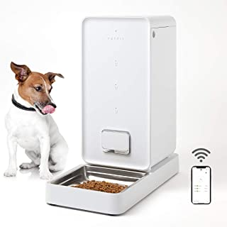 PETKIT Smart Feed Automatic Cat Feeder Dog Feeder, iF DESIGN AWARD 2018, Wi-Fi Enabled Pet Feeder, Smartphone App for iOS Android, Work with ALEXA,Portion Control, Timer Programmable,Fresh Lock System