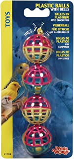 LIVING WORLD 81708 Plastic Balls with Bells Bird Toy