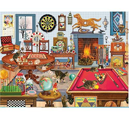 Puzzles para Adultos Rompecabezas de 1000 Piezas  Snooker Tiempo Libre Educativo Intelectual Descomprimiendo Juguete Divertido Juego Familiar para niños Adultos 827