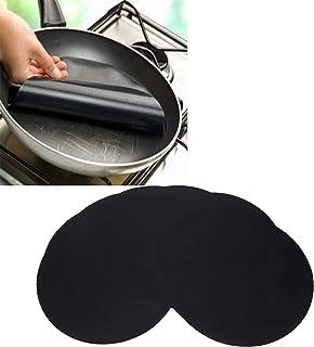 10 pièces tapis de casserole tapis antiadhésif réutilisable poêle à frire barbecue feuille de revêtement d'huile de cuisso...