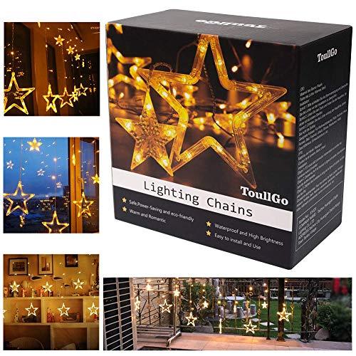 Lichtervorhang Lichter,LED Lichtervorhang,LED Lichterkette,Weihnachtsbeleuchtung,für Innen und Außen Dekoration - Weihnachten Party Hochzeit Garten Schlafzimmer Innen außen (8 Modelle)