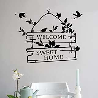 Removable Welcome Sweet Home Little Tree Sign Bedroom Living Room Decor Art Vinyl Wall Sticker