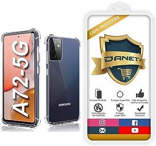 """Capa Protetora Para Samsung Galaxy A72 com Tela de 6.7"""" Polegadas Capinha Case Transparente Air Anti Impacto Proteção De S..."""
