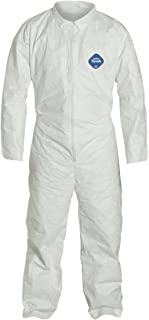 DuPont TY120S Disposable Tyvek White Coverall Suit 1412, Size XXXLarge, Sold by The Each