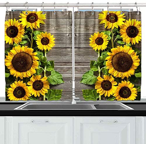Top 10 Best sunflower curtains for bathroom window Reviews