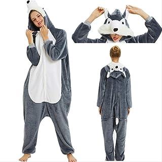 Pijamas de Mujer, Pijamas de Franela para Hombres y Mujeres, Pijamas Unisex de Punto Panda, León, Dibujos Animados de Animales, Conjuntos de Pijamas de Invierno