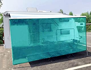 Tentproinc RV Awning Shade Screen 6' X 15' 3'' Gift Blue Sunshade Camping Trailer UV Sun Blocker Complete Kits - 3 Years Limited Warranty