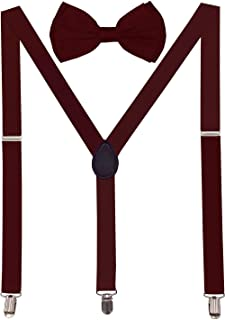 Best burgundy and gold bow tie and suspenders Reviews