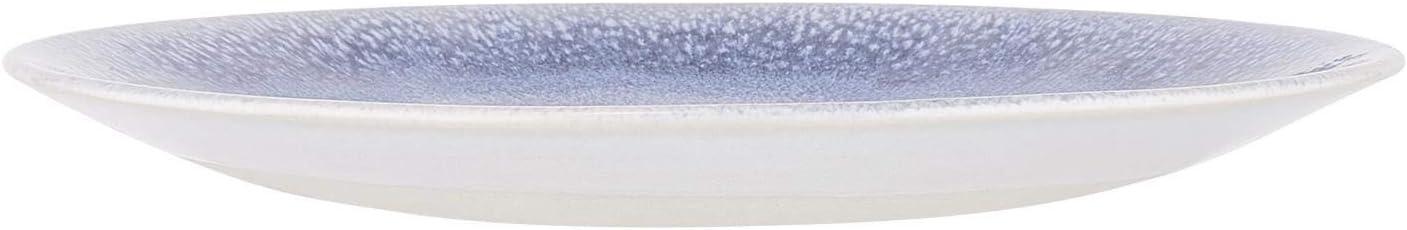 Teller in Blau Speiseteller aus Steinzeug Fr/ühst/ücksteller /Ø 23 cm Butlers Atlantis