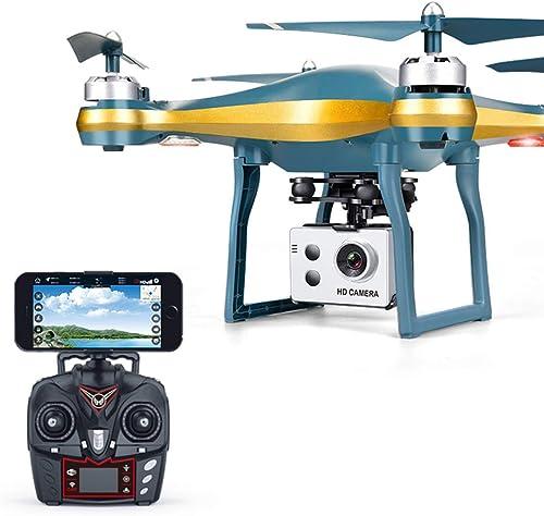 LOLOP UAV GPS WiFi Professionelle Luftbildfotografie Genaue Positionierung Niedrige elektrische Rückholflugzeuge Quadcopter,Gold720P