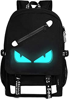 Anime Luminous Backpack, 15.6 Inch Laptop Backpack for Boys School Backpack with USB Charging Port, Lightweight Daypack with Anti-Theft Lock, Shoulder Travel Backpack for Teens