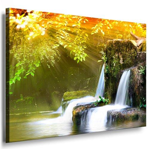 Bilder Kunstdrucke / Boikal / Leinwandbild, Bild mit Keilrahmen Wasserfall Wald, Landschaften / Natur 150x100 cm xxl.215