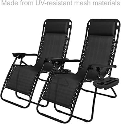 Awesome Amazon Com Belleze Set Of 2Pcs Zero Gravity Chairs Short Links Chair Design For Home Short Linksinfo