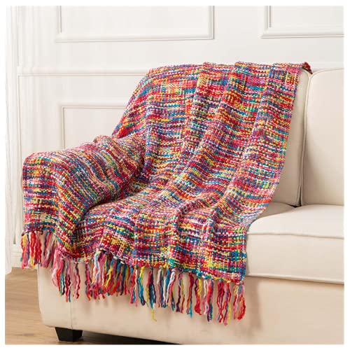 Battilo übergroße, farbenfrohe Überwurf-Decke aus Bambusgittergewebe, 200,7x 149,9cm muster 2
