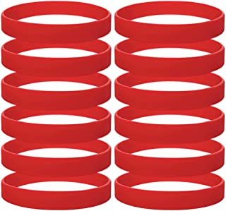 GOGO 12 PCS Silicone Wristbands for Kids, Rubber Bracelets, Party Favors