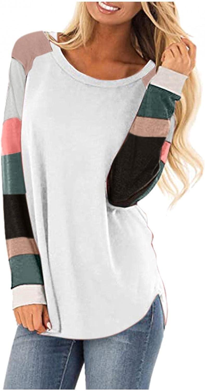 Womens Sweaters Cardigan, Sweatshirts for Women Long Sleeve Crew Neck Shirts Tunic Tops for Leggings
