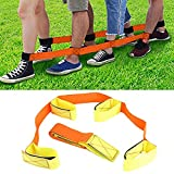 Uspacific 2Pcs 4 Legged Race Bands, Outdoor Activities Teamwork Training for Kids Adults Relay Race Game, Carnival, Field Day and Backyard