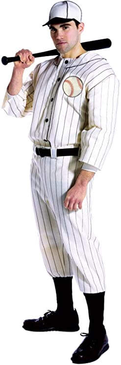 1940s Men's Outfit Inspiration | Costume Ideas Rasta Imposta Old Tyme Baseball Player Uniform and Hat  AT vintagedancer.com