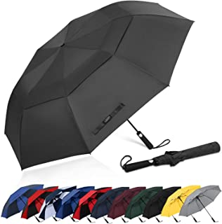 G4Free 62 Inch Portable Golf Umbrella Automatic Open Large Oversize Vented Double Canopy Windproof Waterproof Sport Umbrellas