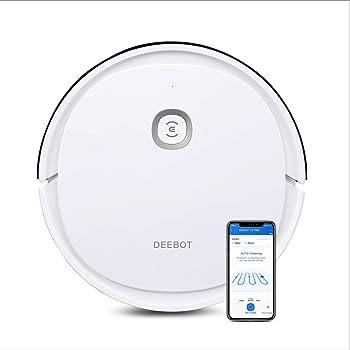 ECOVACS DEEBOT U2 – potente robot aspirapolvere con funzione lavaggio e pulizia sistematica – Controllo tramite App e Alexa, Bianco