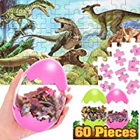 2-Pack Atopdream 60-Pieces Educational Dinosaur Puzzle